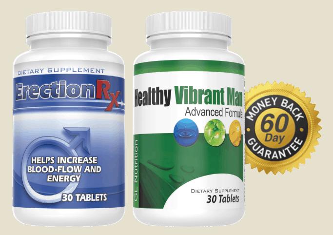 Erection RX & Healthy Vibrant Man Money Back